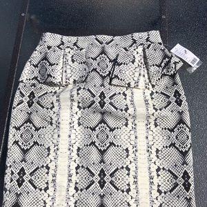 🆕Nanette Lepore Black white python skirt